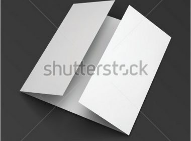 Blank trifold paper brochure
