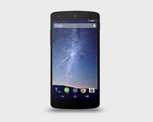 Google Nexus 5 PSD Mock-Up