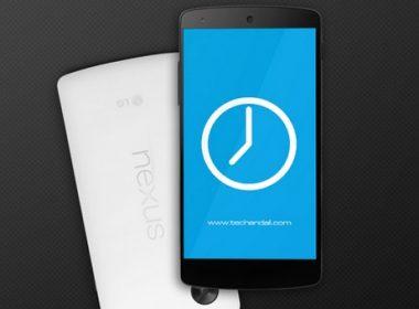 Google Nexus 5 Screen Mock up