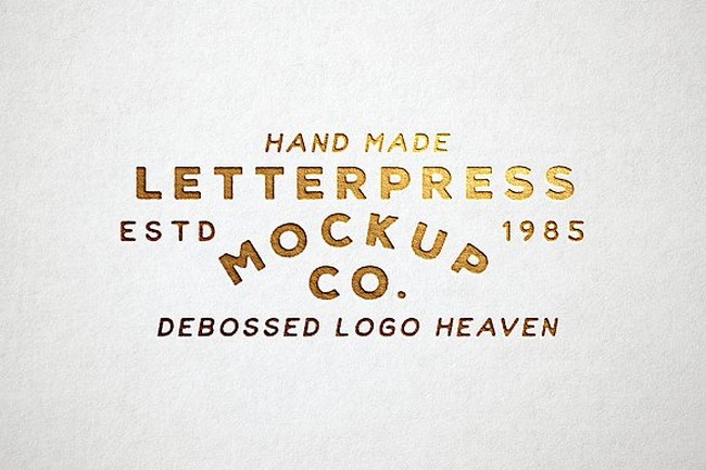 Letterpress Logo Mock-Up