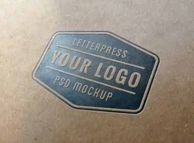 Letterpress Logo MockUp #1