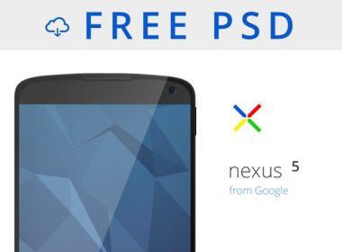 Nexus 5 Mockup PSD Download