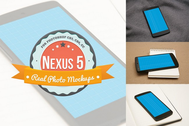 Nexus 5 Product Mockups for Photoshop PSD
