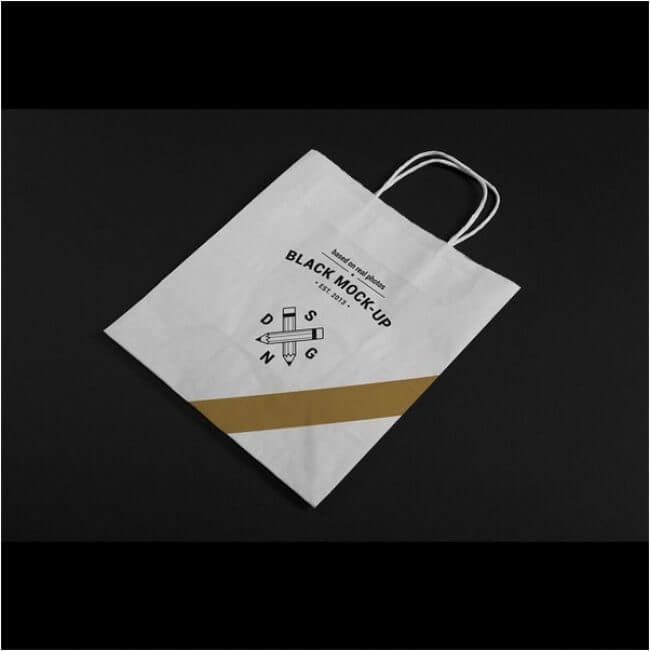 Paper bag mock up design