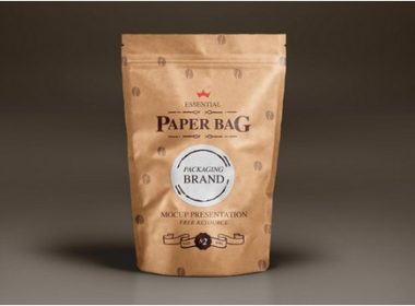 Psd Coffee Paper Bag Mock-Up Template Vol2