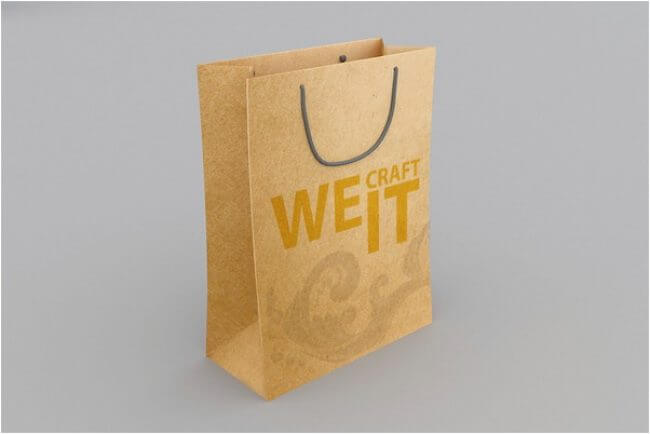 Shopping We Craft It Paper Bag Mockup