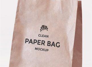 Simple Paper Bag Mockup