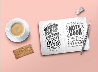 Sketchbook Mockup PSD Template