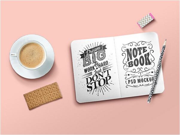 Sketchbook Mockup PSD Template