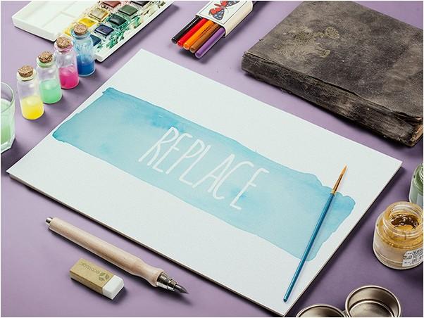 Watercolor Sketch Mock-Up