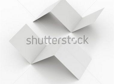 blank square brochures