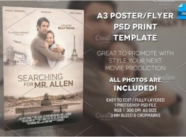 A3 - Movie Poster Print Template 1