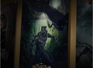 Black Panther Movie Poster Mockup