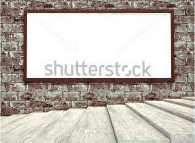 Blank billboard and outdoor advertising Mockup
