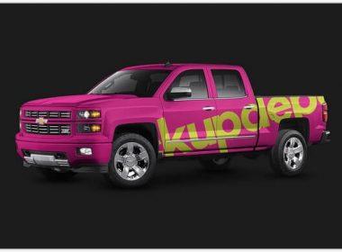Chevy Silverado Truck Wrap PSD mockup