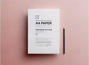 Free A4 Flyer Paper Mockup PSD
