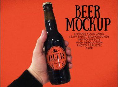 Free Beer Mockup