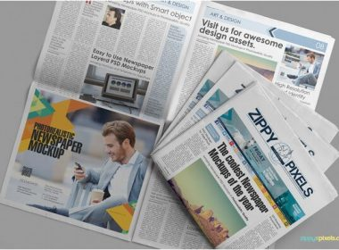 Free Customizable Newspaper & Advertising Mockup