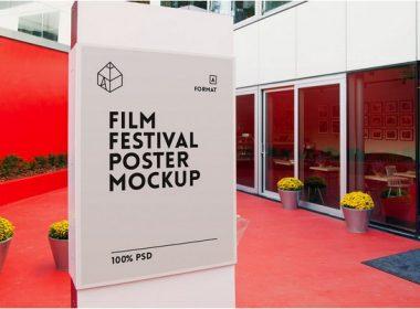 Free Film Festival Poster Mockup