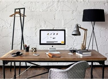 Industrial style workspace - photo