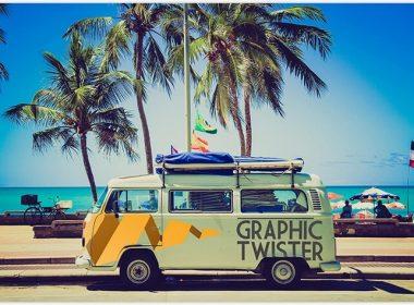 Miami Bus Wrap Mockup
