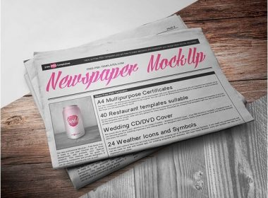 NEWSPAPER MOCK-UP IN PSD