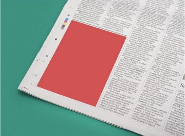 Newspaper Ad Mockup Sample