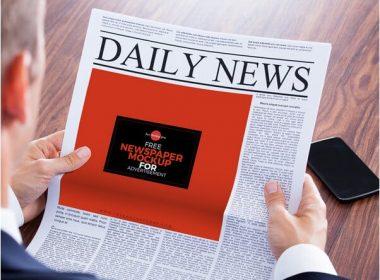 Newspaper MockUp For Advertisement