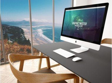 Office Imac Mockup Free Psd