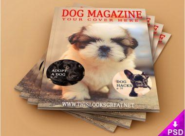 Pet Magazine Mockup