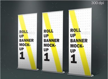 Roll-Up Standing Banner Photorealistic-Mockup