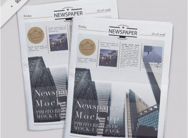Several realistic newspaper mockups