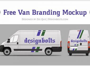Van Car Wrap Branding Mock-up