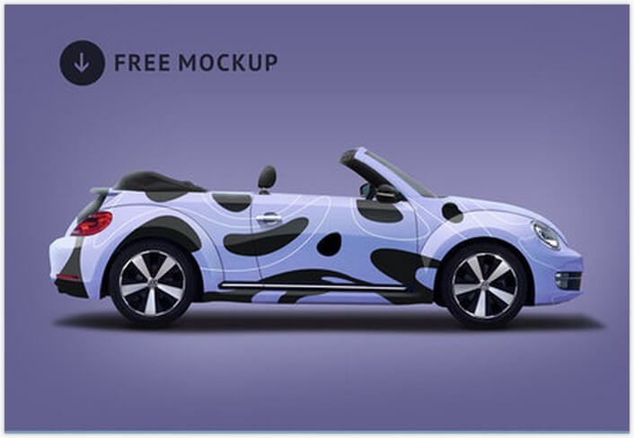 volkswagen beetle branding mockupjpg