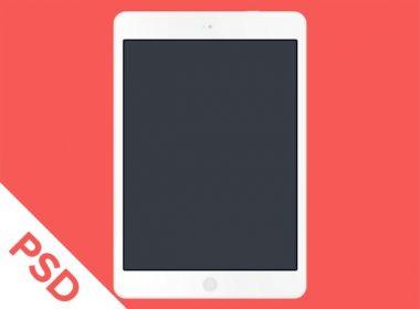 White Flat iPad Air PSD