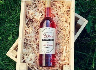 Wine Bottle Label Mock-up #2