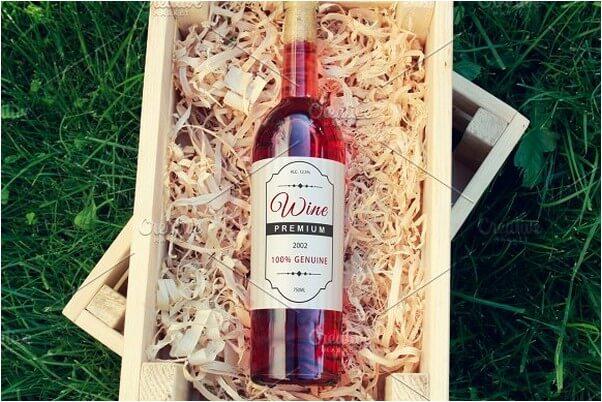 Wine Bottle Label Mock-up # 2