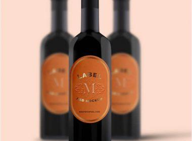 Wine Bottle Mockup PSD