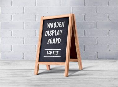 Wooden Menu Display Board PSD