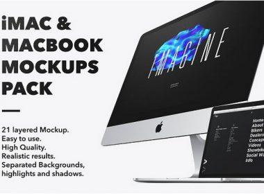 iMac & Macbook Mockups pack