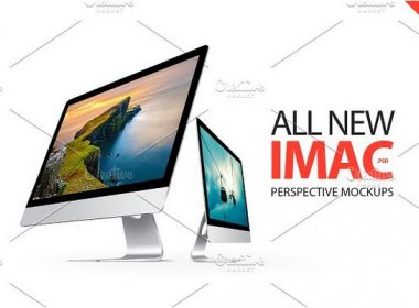 iMac Perspective Mockups