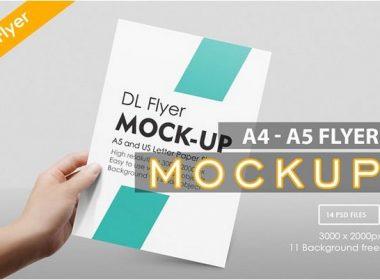 A4 - A5 Flyer Muck-up
