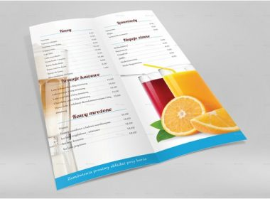 A4 Half Folded Menu Card Mockup