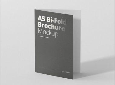 A5 Bi-Fold Brochure Mock-Up Free