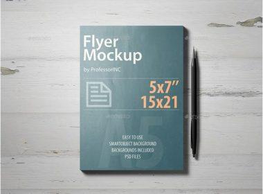 A5 Flyer Mockup # 2