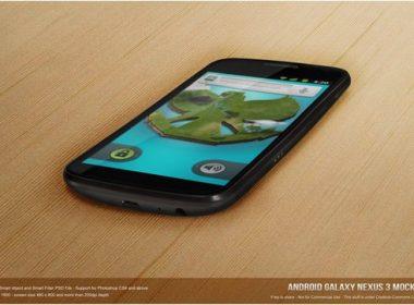 Android Galaxy Nexus 3 Mock-up PSD