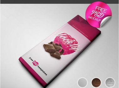 CHOCOLATE PACKAGE MOCK-UP IN PSD