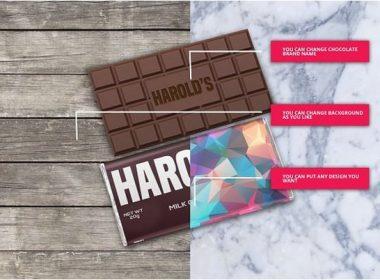 Chocolate Bar Pack Mock-Ups