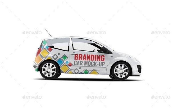 City Car Branding Mock-up