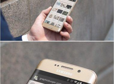 City Street Android MockUp PSD